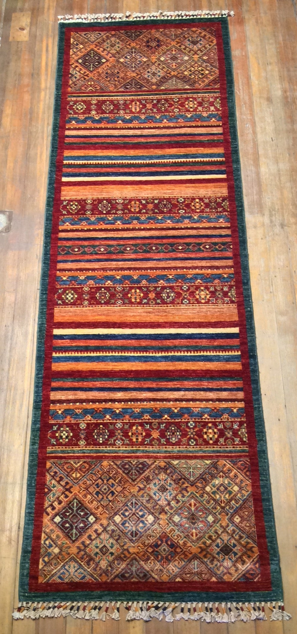 Tribal Khorjin Rug.  8'.5