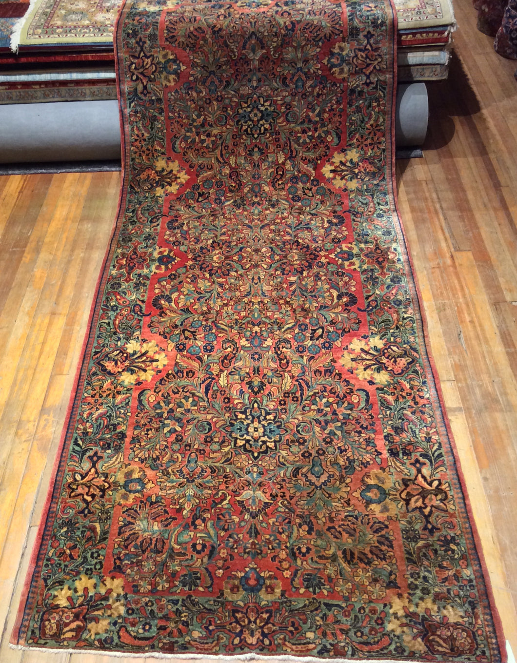 Antique Persian Sarouk Rug.  13'.1