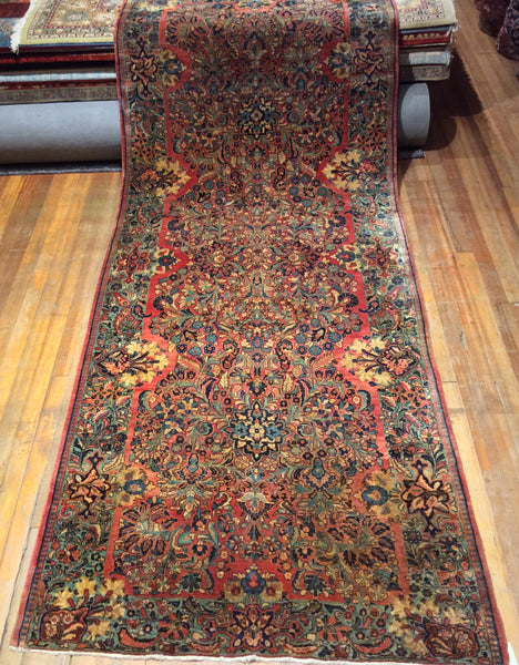"Antique Persian Sarouk Rug.  13'.1"" x 5'"