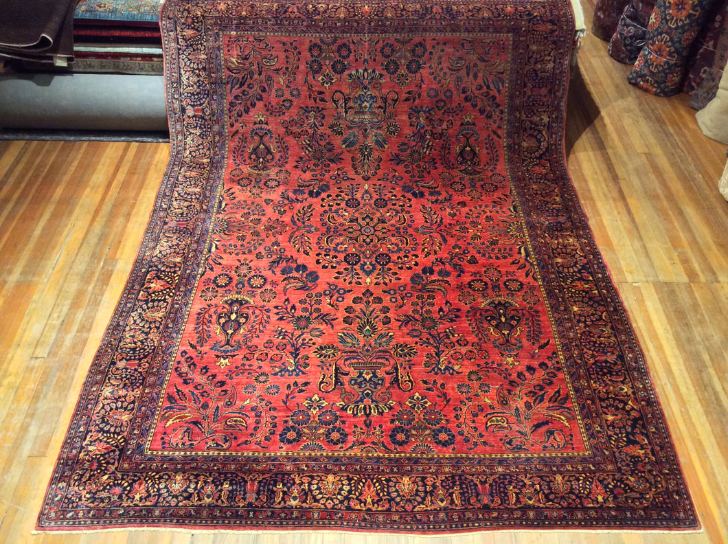 Antique Persian Sarouk Rug.  11' .9