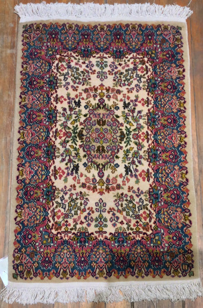 "Antique Persian Kirman Rug .  3'.2"" x 2'.1"""