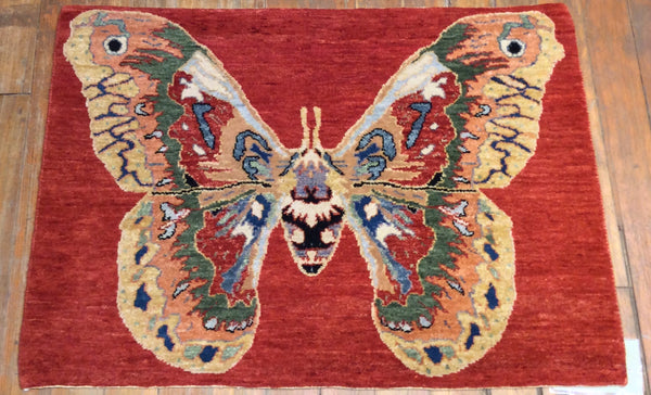 "The Butterfly Rug. 3'.1"" x 2'.3"""