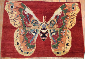 "Butterfly Rug. 3'.1"" x 2'.3"""