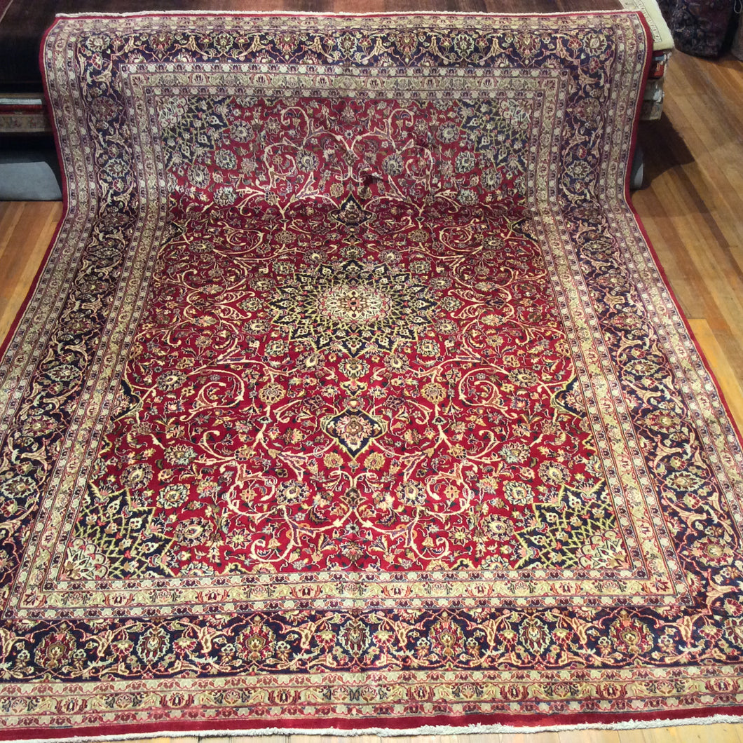 Semi Antique Persian Kashan Rug. 12'.9