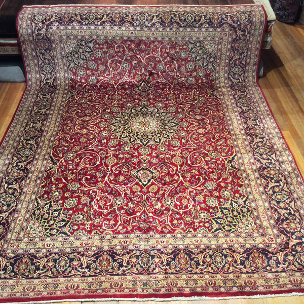 "Semi Antique Persian Kashan Rug. 12'.9"" x 9'.10"" CLEARANCE $2,995.00"