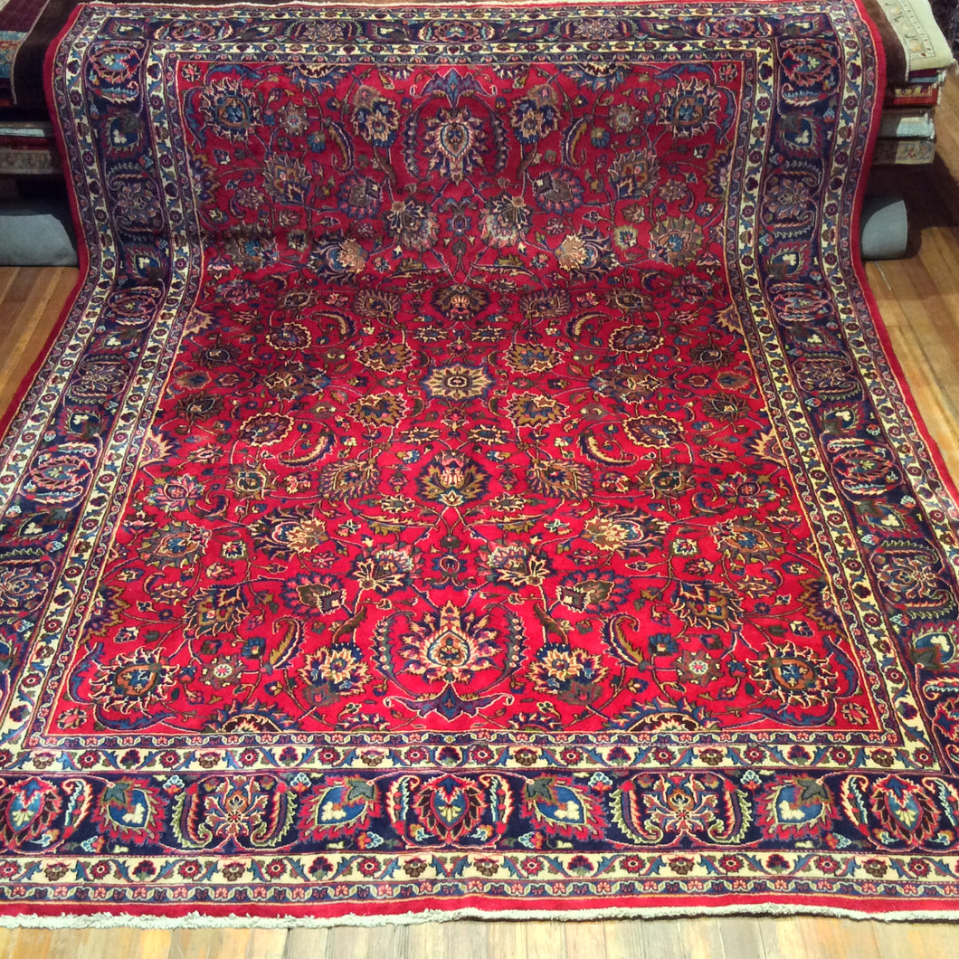 Semi Antique Persian Mushad Rug. 12'.10