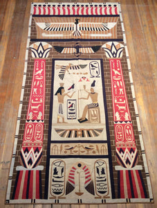 "Antique Egyptian Tapestry 9'.6"" x 4'.4"""