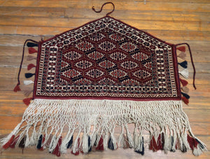 "Antique Turkaman Fine Wall Hanging. 3'.2"" x 2'.1"""