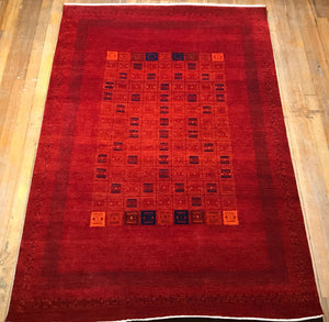 "Arts and Crafts Rug.  8'4"" x 5'7"""