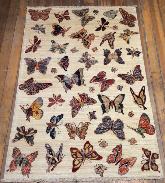 Butterfly Art and Crafts Rug.  5' x 3'.3""