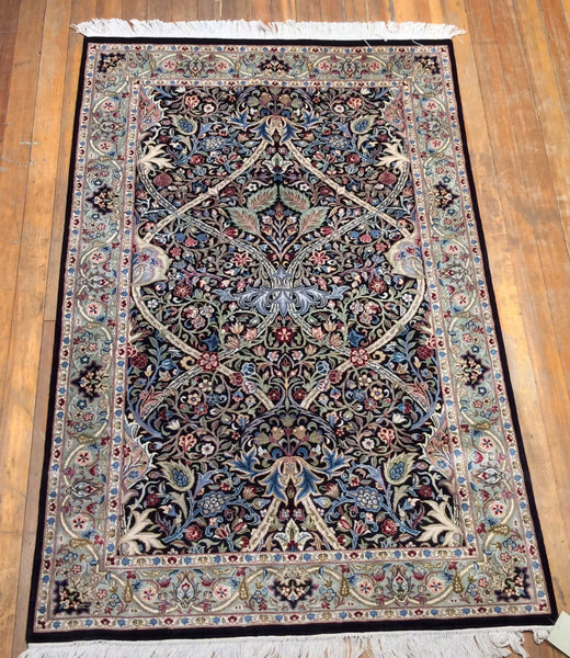 "Arts and crafts fine rug.  6'.2"" x 4'"