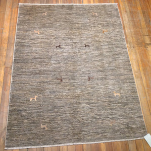 "Arts and crafts Rug.  6'.7"" x 5'.1"""