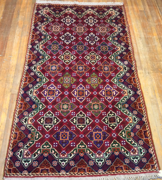 "Baluchi Tribal Rug.  9'.1"" x 4'.10"" CLEARANCE $689.00"