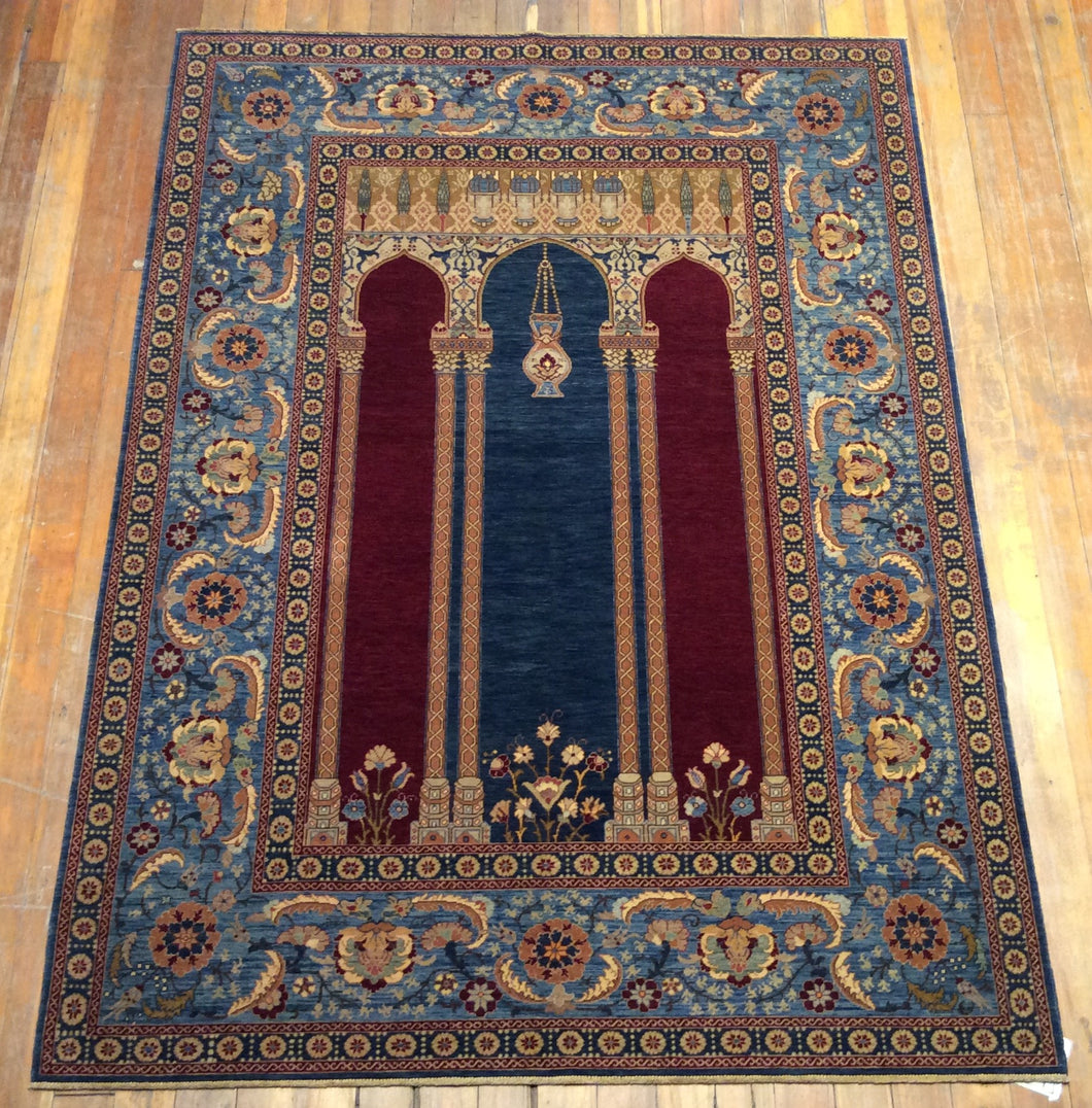 V.Fine Mihrab Prayer Rug. 6'.6