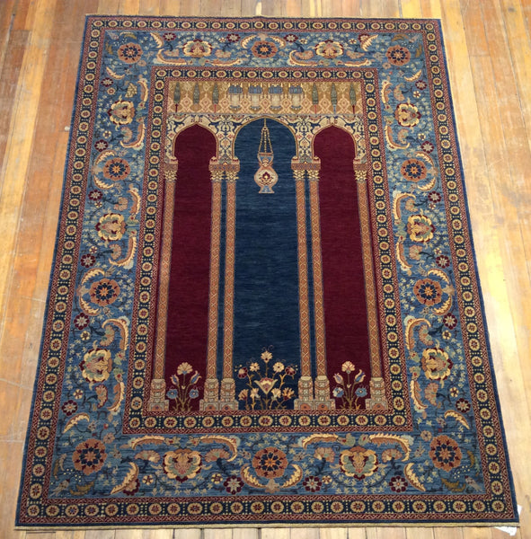 "V.Fine Mihrab Prayer Rug. 6'.6"" x 4'.9"""