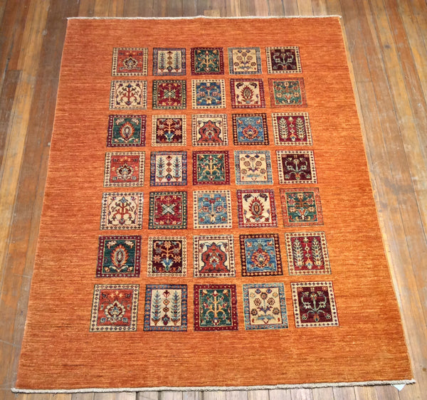 "Royal Bakthari Rug.  6'.10"" x 5'"