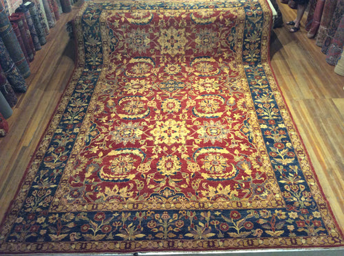 Natural Dye / Hand Spun Wool Sultanabad Rug  17'.4
