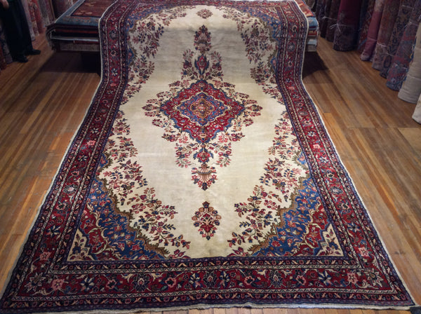"Semi Antique Persian Kazvin Rug.  19'.6"" x 9'.6"""