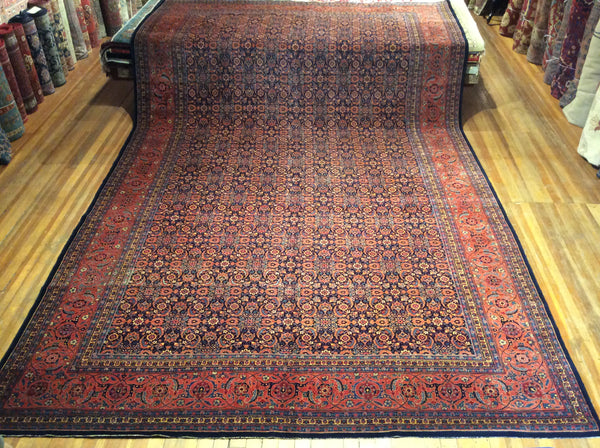 "x V. Fine Antique Persian Herati Tabriz 18'.3"" x 11'"