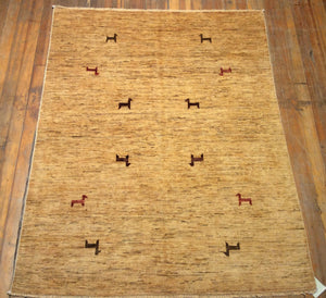 "Arts and Crafts Rug.  6'.6"" x 5'.1"""