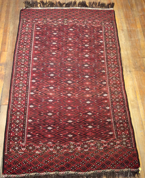 "Antique Fine Persian Summak.  7'.3"" x 4'.3"" CLEARANCE $488.00"