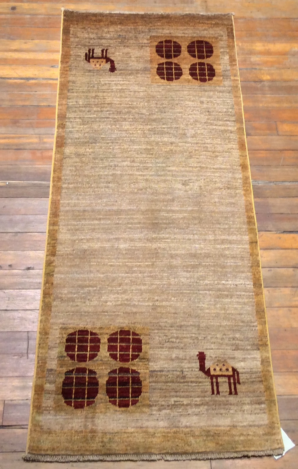Arts and Crafts Natural Dyes / Hand Spun Wool Rug.