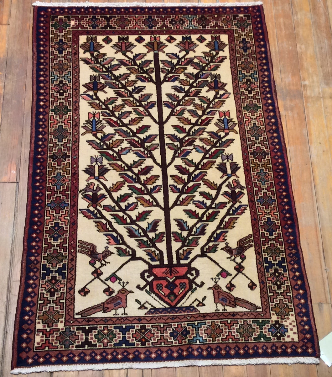 Persian Mehraban Rug.   5' x 3' 4