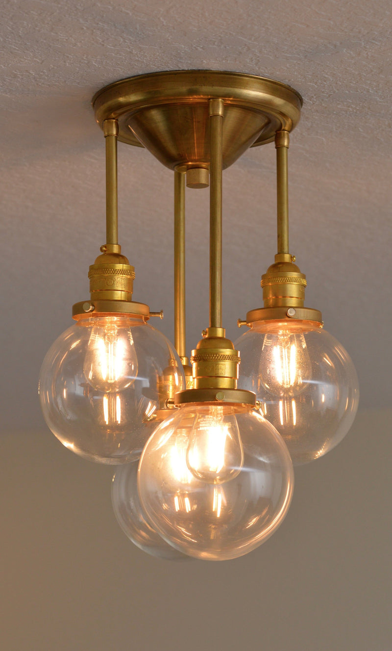 Elegant Brass Chandelier