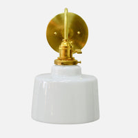Brass Wall Sconce w/Cylinder Shade