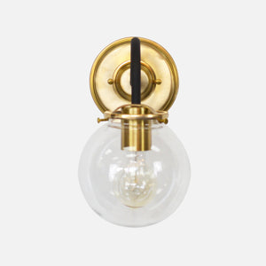 Brass and Black Wall Sconce