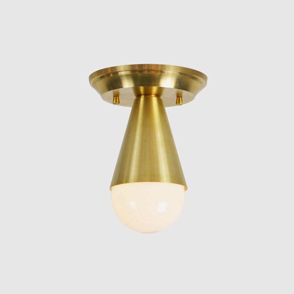 Hazel Brass Semi-Flush Ceiling Fixture
