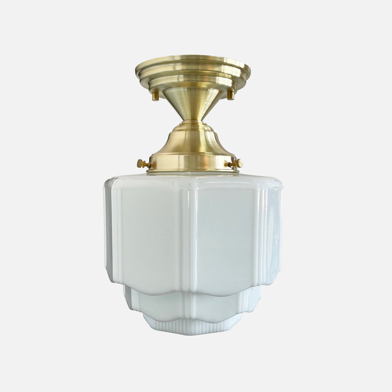 Mortimer Ceiling Fixture (Step-Down Shade)