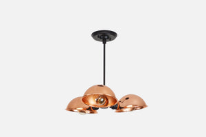 Modern Black and Copper Chandelier