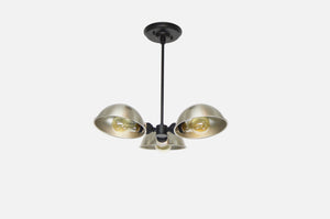 Modern Black and Nickel Chandelier
