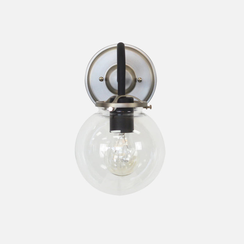 Nickel and Black Wall Sconce