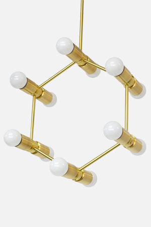 Modern Brass Chandelier
