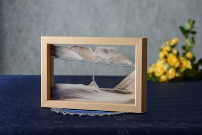 Picture of KB Collection Horizon Canyon Sand Art with yellow flowers- By Klaus Bosch sold by MovingSandArt.com