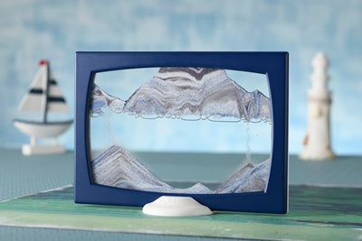 Screenie Ocean Two-Tone  Blue/White Moving Sand Art- By Klaus Bosch