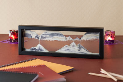 Picture of KB Collection Triple X Black Sand Art with pencils- By Klaus Bosch sold by MovingSandArt.com