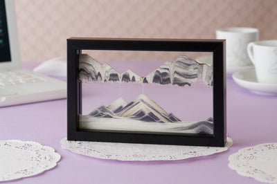 Picture of KB Collection Horizon Black Sand Art with tea- By Klaus Bosch sold by MovingSandArt.com