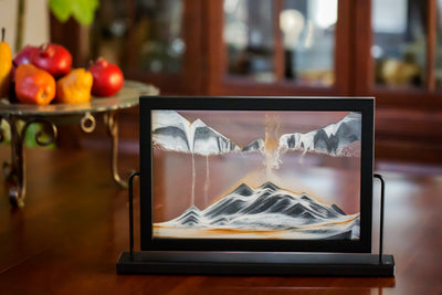Picture of KB Collection Landscape Black Sand Art dining room- By Klaus Bosch sold by MovingSandArt.com