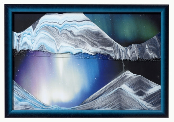 Picture of KB Collection Movie Series Wall Mount Aurora Borealis Sand Art- By Klaus Bosch sold by MovingSandArt.com