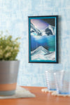 Picture of KB Collection Movie Series Wall Mount Aurora Borealis Sand Art vertical- By Klaus Bosch sold by MovingSandArt.com