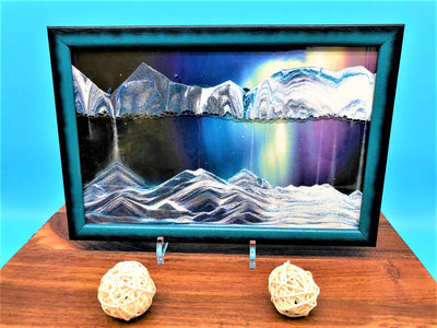 Picture of KB Collection Movie Series Wall Mount Aurora borealis Sand Art with balls- By Klaus Bosch sold by MovingSandArt.com
