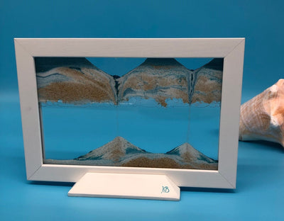 Picture of KB Collection Silhouette Blue Ocean Sand Art with shells- By Klaus Bosch sold by MovingSandArt.com