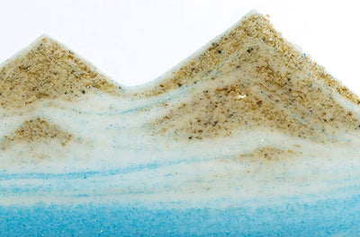 Picture of KB Collection Silhouette Blue Ocean Sand Art sand detail- By Klaus Bosch sold by MovingSandArt.com