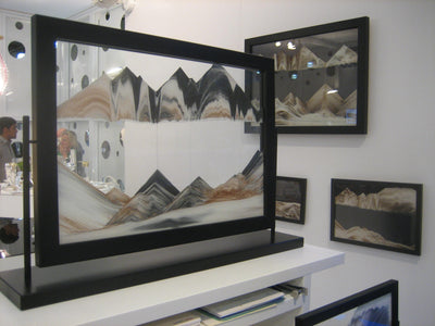 Picture of KB Collection Masterpiece Series Black Beauty Sand Art showroom- By Klaus Bosch sold by MovingSandArt.com
