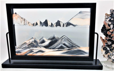 Picture of KB Collection Landscape Black Sand Art with quartz- By Klaus Bosch sold by MovingSandArt.com