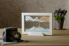 Picture of KB Collection Silhouette Blue Ocean Sand Art with camera- By Klaus Bosch sold by MovingSandArt.com
