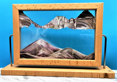Picture of KB Collection Window Canyon Sand Art on marble- By Klaus Bosch sold by MovingSandArt.com